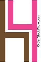 Logo for furniture designer shaped like H