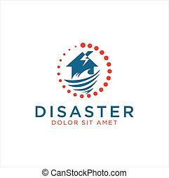 Logo for home improvement after a disaster . Natural ...