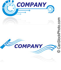 Two logo design templates for modern company