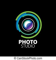 logo for photo studio. Vector illustration of icon