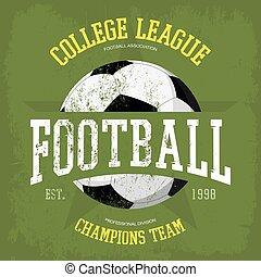 Logo for soccer or football t-shirt