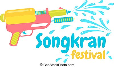 Logo for Songkran - Vector logo for Songkran festival in...