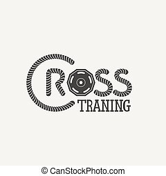 logo, formation, croix