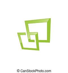 logo, forme, vecteur, carrée