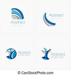 logo, formułować, koło, abstrakcyjny