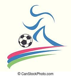 logo, fotboll, sport