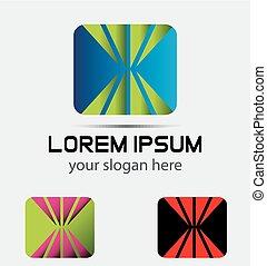 logo, fyrkant, abstrac, rektangulär