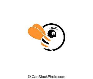 logo, gabarit, abeille