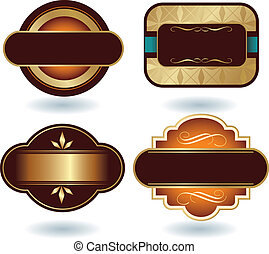 logo, gabarit, chocolat