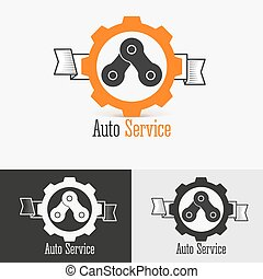 logo, gabarit, conception, auto