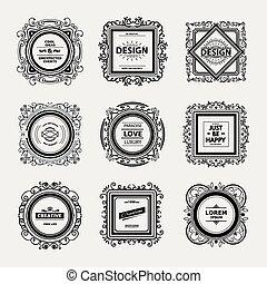 logo, gabarit, luxe, monogram