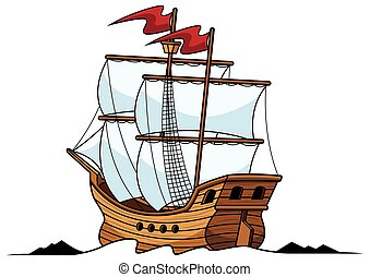 logo, galeon, maskot