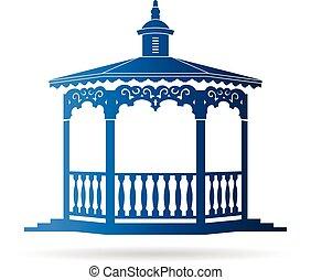 logo, gazebo, mariage