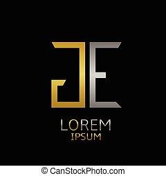 logo, ge, lettres
