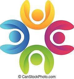 logo, Gemeinschaftsarbeit, Geschaeftswelt, Leute