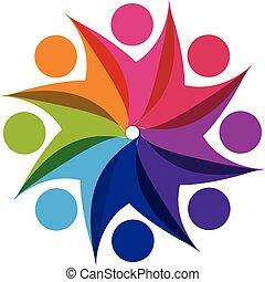 logo, gemeinschaftsarbeit, partner