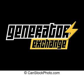 logo, generator, udveksling