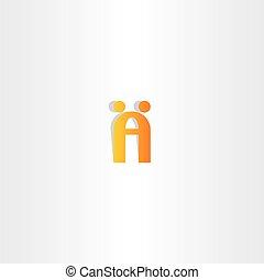 logo, gens, lettre, danse