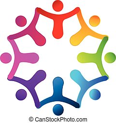 logo, gens tenant mains