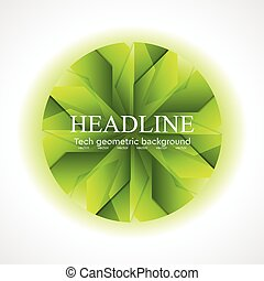 logo, geometrisch ontwerp, cirkel, abstract