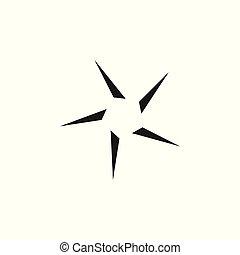 logo, geometrisch, vektor, stern