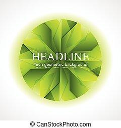logo, geometrisk konstruktion, cirkel, abstrakt