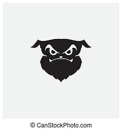 logo, gesicht, unheimlicher , design, silhouette, hund