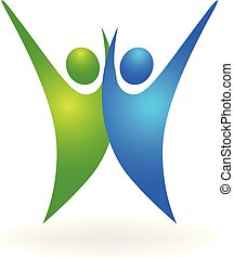 logo, glade, held, folk