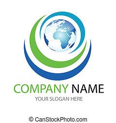 logo, global