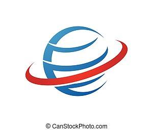 logo, global, icône