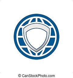 logo, global, protection