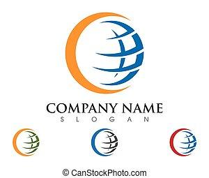 logo, global, schablone
