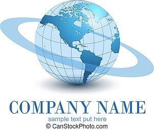 logo, globe, aarde