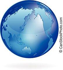 logo, globe, illustration