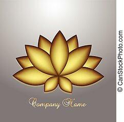 Logo golden lotus flower