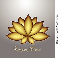 Logo golden lotus flower