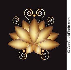 Logo golden lotus swil flower