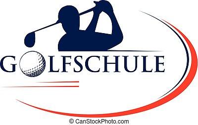 logo, golf, gabarit
