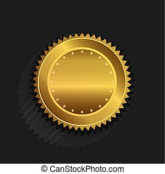 logo, gouden zegel