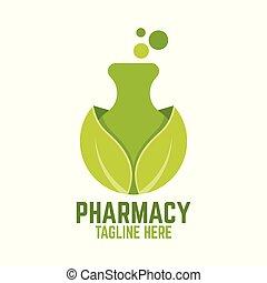 logo, grön, labb