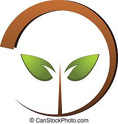 logo, grønnes træ, natur