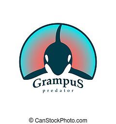 Logo grampus whale.