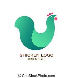 Logo green chicken