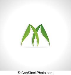 logo green leaf concept