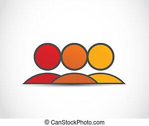 logo, groep, sociaal