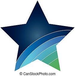 logo, gwiazda, ikona