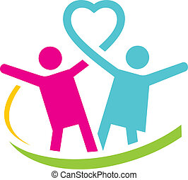 logo, hälsa, familj