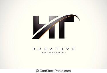 logo, h, nymodig, ht, lines., design, gul, brev, swoosh, ...