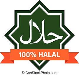 logo., halal