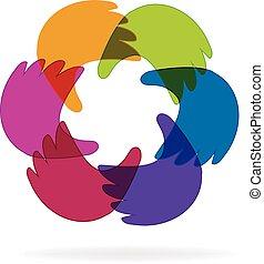 logo, handel hands
